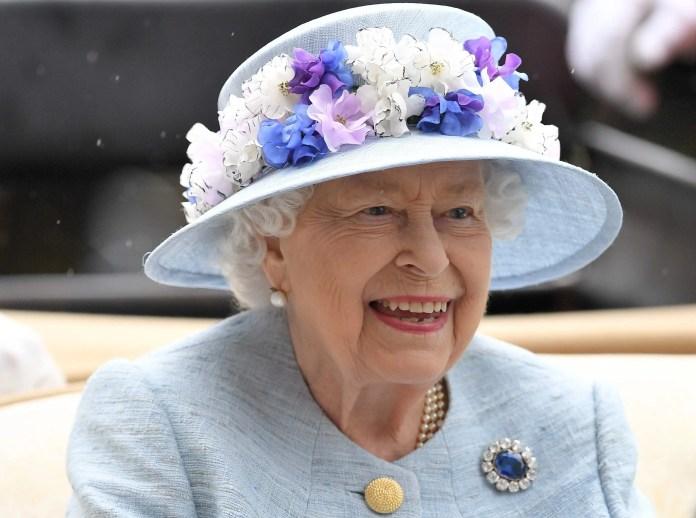 Queen Elizabeth is very happy