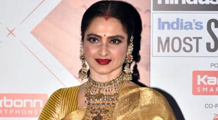 Bollywood star Rekha - India film industry showbiz