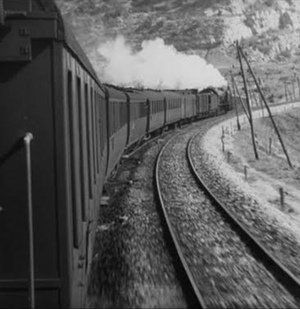 Old train scene