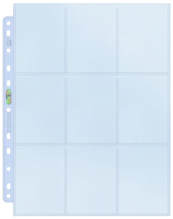 9-Pocket Pages Silver Blue