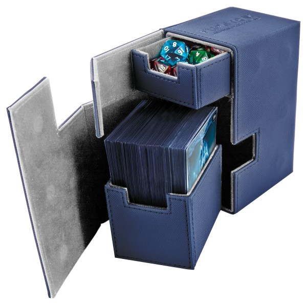 Ultimate Guard Flip'n'Tray Deck Case 80+ Standard Size XenoSkin Blue