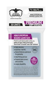 Ultimate Guard Premium Soft Sleeves for Board Game Cards Mini European (50)