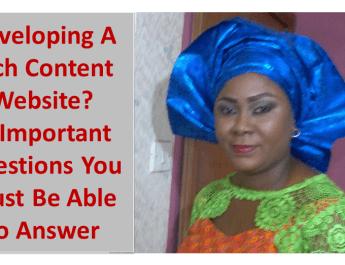 Developing a rich content website