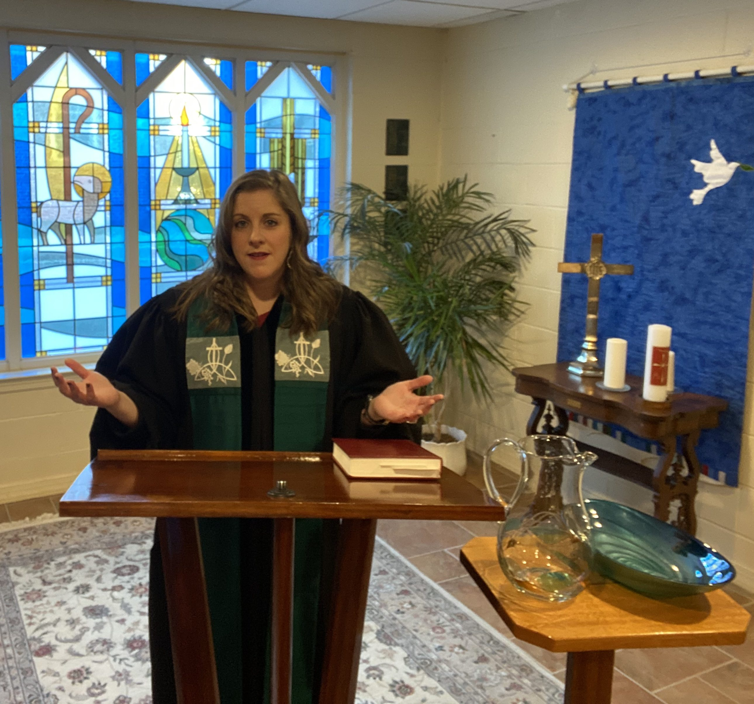 Pastor Melissa preaching