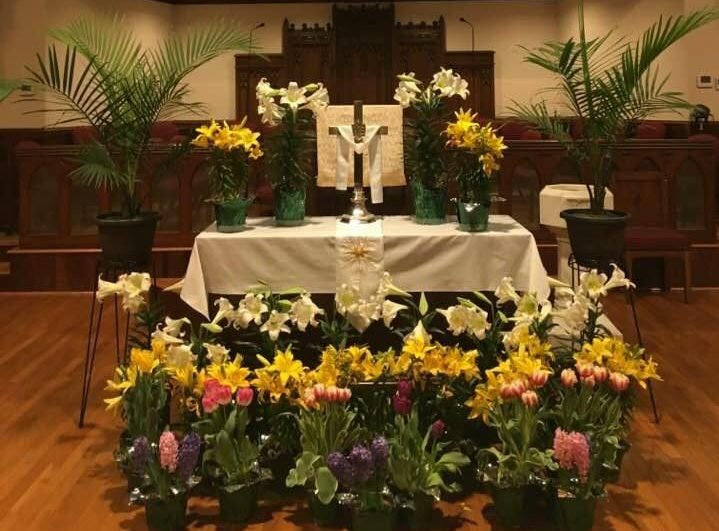Sanctuary at Easter