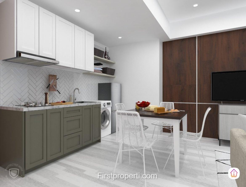apartemen west vista fully furnished modern classic 2 br 3