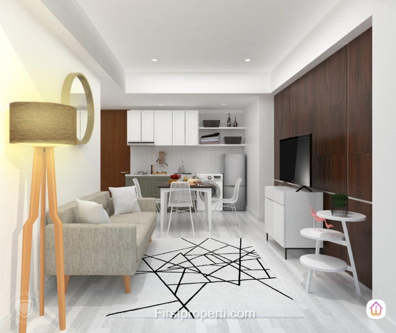 apartemen west vista fully furnished modern classic 2 br