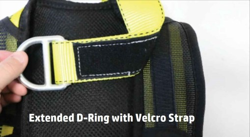 Extended D Ring With Velcro Strap