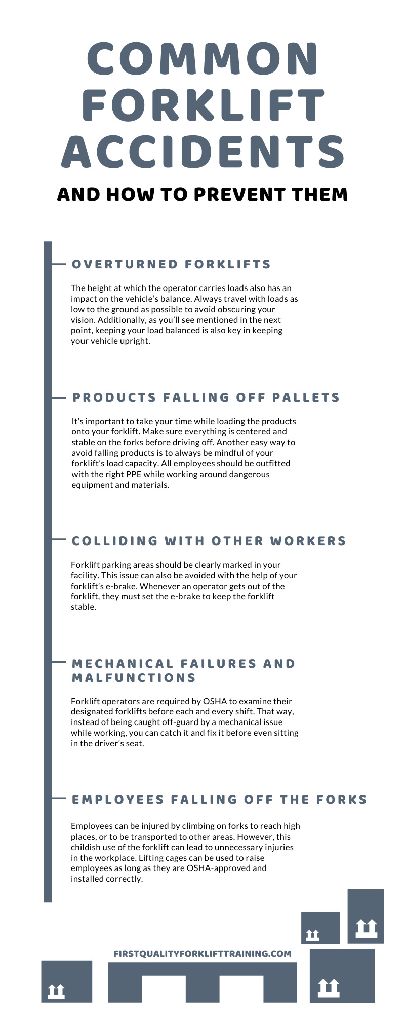 Common Forklift Accidents and How to Prevent Them infographic