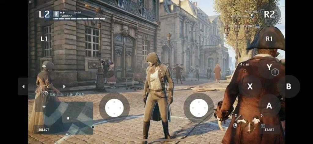 Assassin's Creed Unity auf iPhone XS mit Moonlight