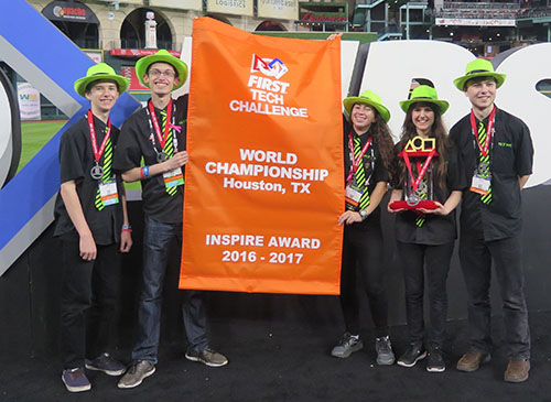 FIX IT Team 3491 wins the Inspire Award at the Houston FIRST Championship