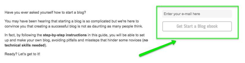 How to Start a Blog guide CTA