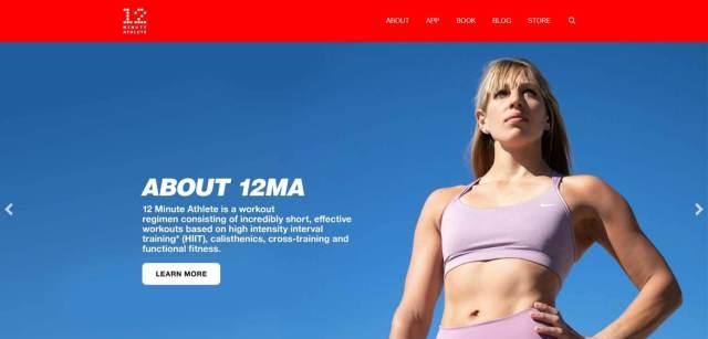 12 Minute Athlete Homepage