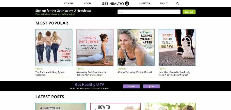 Get Healthy U Homepage