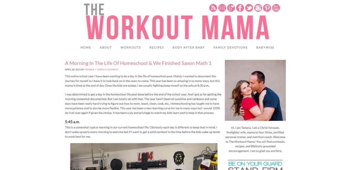 The Workout Mama Homepage