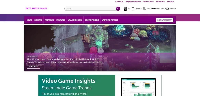 Into Indie Games Homepage