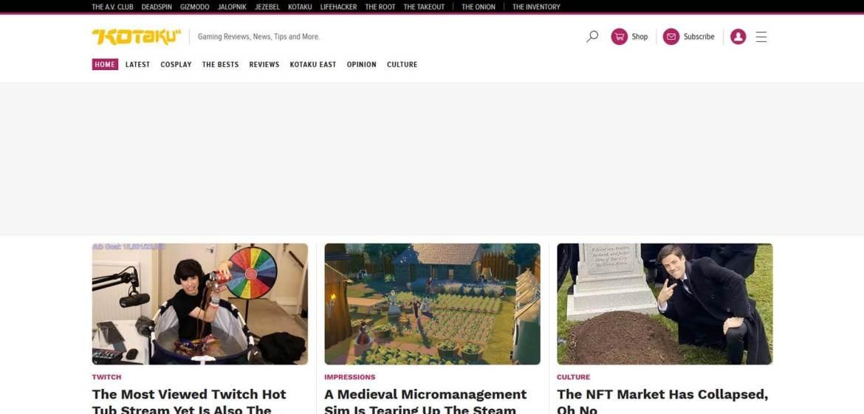 Kotaku Homepage