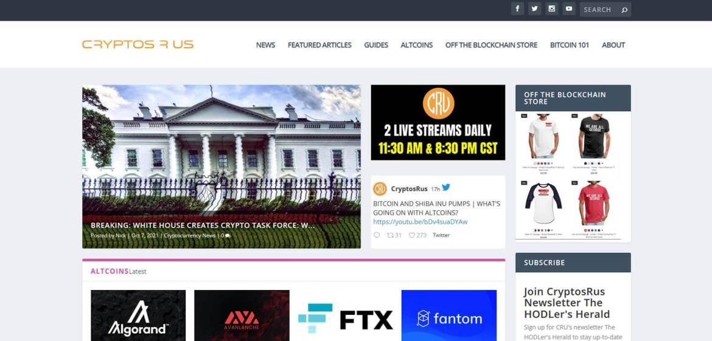 CryptosRUs Homepage