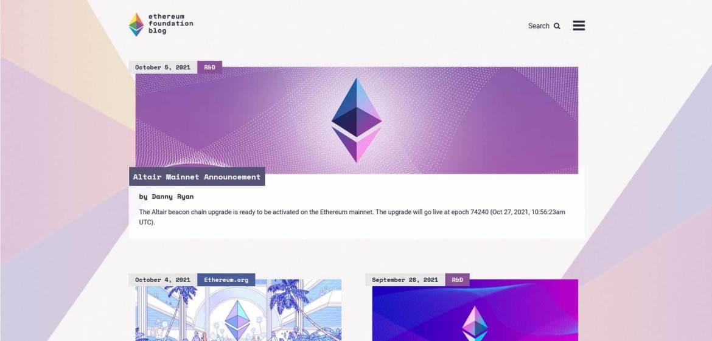 Ethereum Foundation Blog Homepage