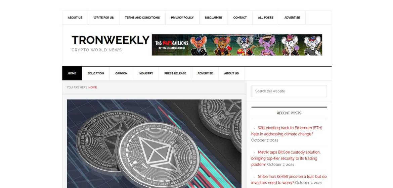 TronWeekly Homepage