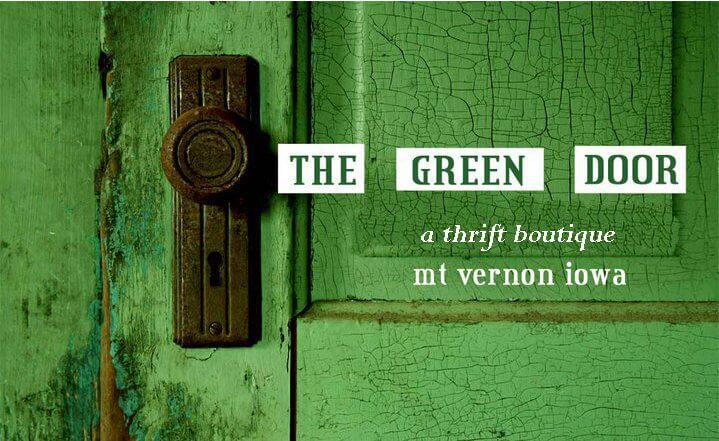 Logo for The Green Door thrift boutique