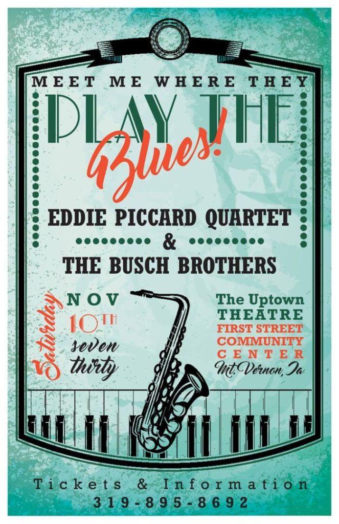 poster for Eddie Piccard Jazz concert