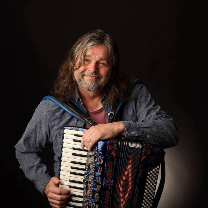 Radoslav blue accordion