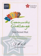 The Wick's Community Challenge Certificate