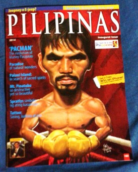 Pilipinas Magazine maiden issue 2014. This is distributed in Bahrain.