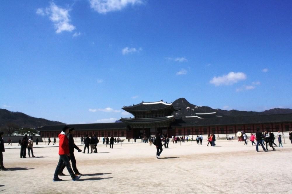 Gyeongbokgung on a sunny day.