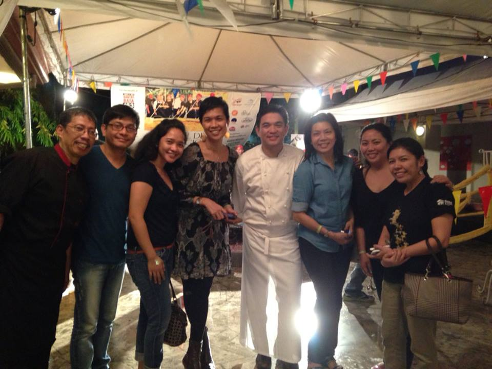 With friends and Chef J. Gamboa. Photo courtesy of Abby Pacquing.