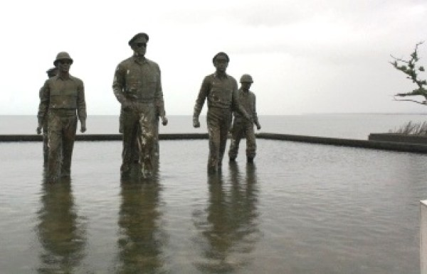 The MacArthur landing memorial in Palo, Leyte.