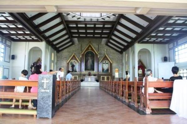 Interiors of the Divine Mercy Shrine, Bago City.