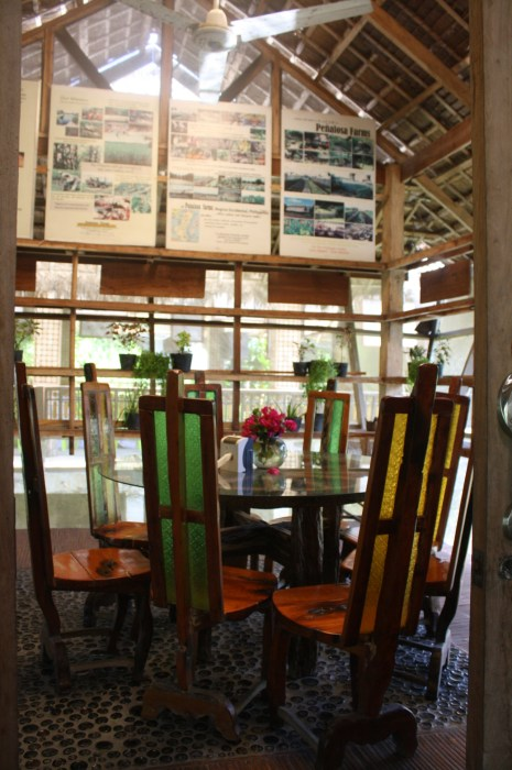 One of the private dining areas in Cafe Organic.