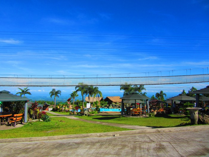 The ;plains of Bacolod City and Talisay City could be seen from Campuestohan.