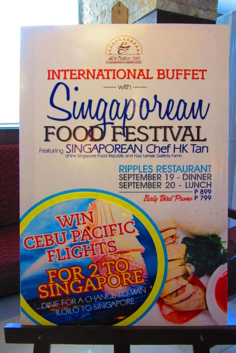 The Singaporean Food Festival details.