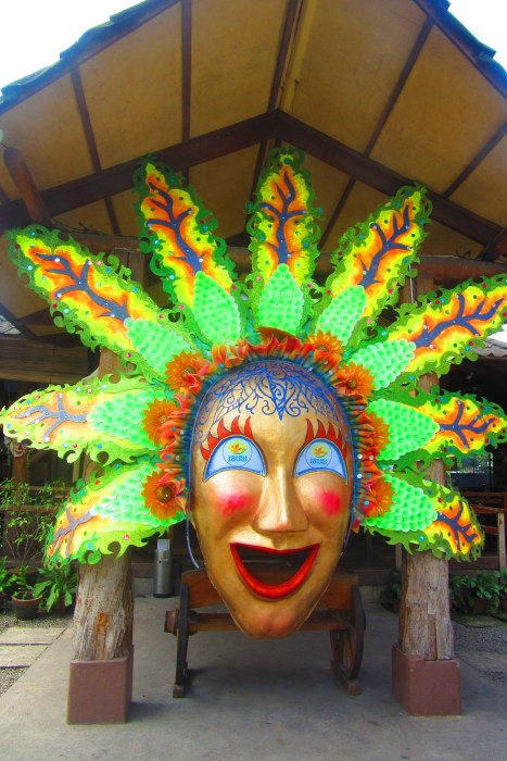 The giant masskara is there to greet you at the entrance.