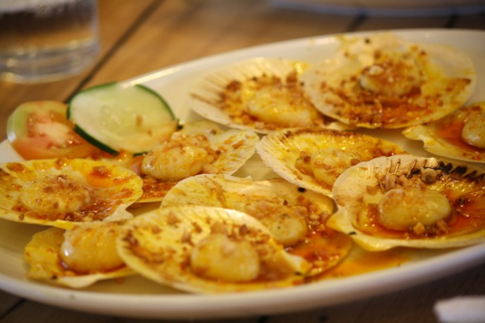 The scallops are a must-try.