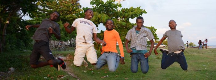 Haiti Kids Jumping
