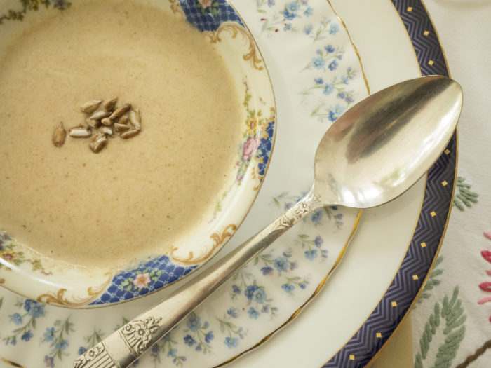 Toasted Sunflower Seed Soup- by Miche Genest
