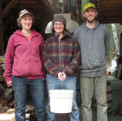 Suzanne's main sweetener for her year of eating local will be birch syrup from Berwyn Larson and Sylvia Fricsh's birch camp