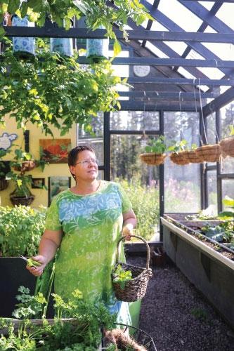 'Le Refuge' - France Benoit's charming farm in Yellowknife