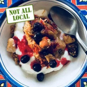 """""""Breakfast of Champions"""". From FirstWeEat.ca, the Food Security North of 60 website supporting First We Eat, a documentary by Yukon filmmaker Suzanne Crocker about eating only locally-grown foods in in Dawson City, Yukon, in Canada's North, for one year."""