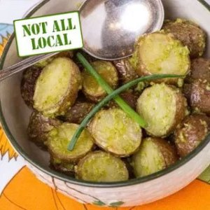 New potatoes. From FirstWeEat.ca, the Food Security North of 60 website supporting First We Eat, a documentary by Yukon filmmaker Suzanne Crocker about eating only locally-grown foods in in Dawson City, Yukon, in Canada's North, for one year.