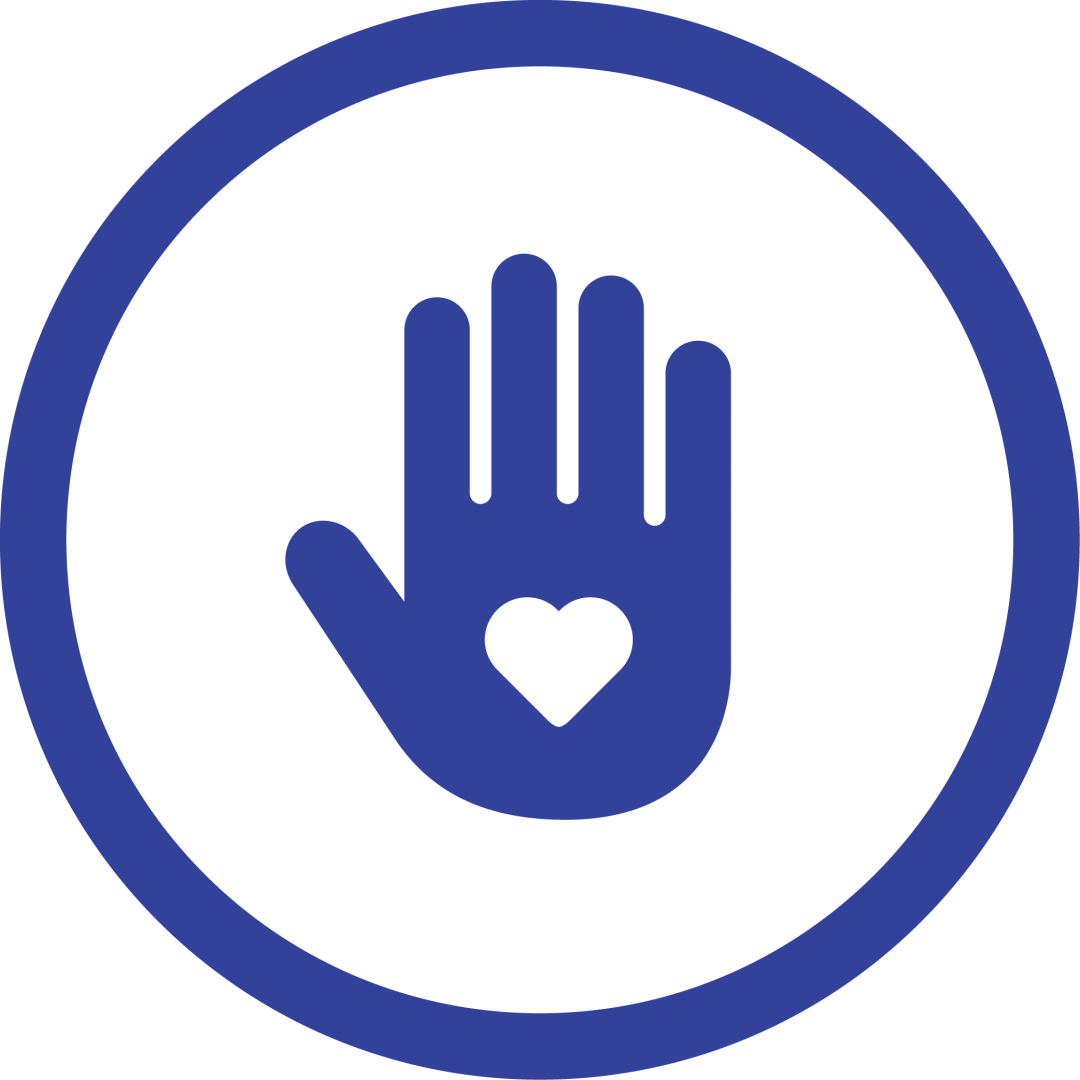 logo image of heart in hand representing service in our community at first west church