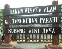 Judulnya sih kita nyebutnya tangkuban perahu di Bandung, taunya udah wilayah Subang