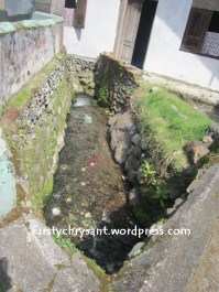 Air yang nglair di selokan ini jernih banget dan segaaar