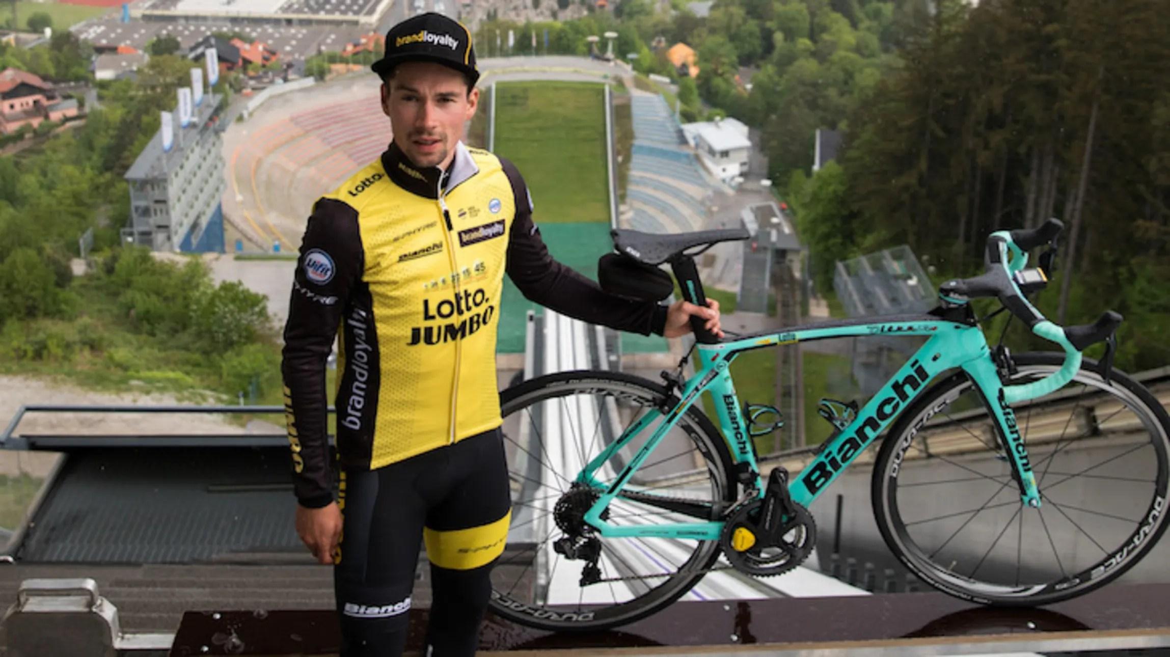 professional cyclist primoz roglic back