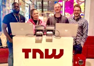 Me and other volunteers at the TNW 2019 Conference