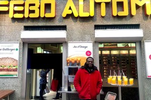 Me at the Febo,my weekend part time job